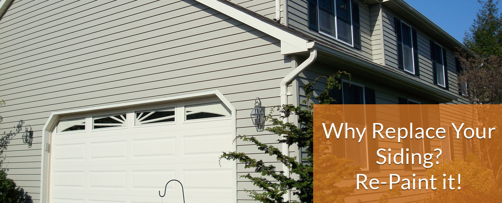 why replace your siding when you can repaint it